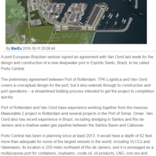 The Maritime Executive - Van Oord tapped to design and build Porto Central - 11.10.2016
